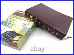 1993 Kirkbride Thompson Chain Reference Bible NASB 1977 Genuine Leather 606 Box