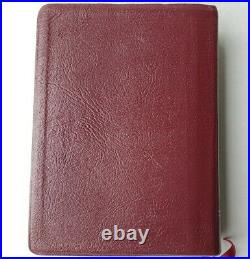 1997 Thompson New King James NKJV Chain Reference Bible Burgandy Genuine Leather