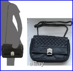 Aimee Kestenberg Pebble Leather Chain Strap Quilted Cross Body Cara Shoulder Bag
