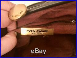 Authentic Genuine Marc Jacobs Quilted Leather Brown Stam Bag with Gold chain