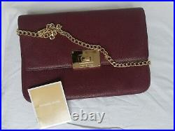 Authentic Michael Kors Real Leather Chain Strap Shoulder Clutch Bag Rrp£159 New