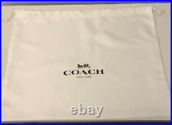 BNWT COACH (RRP £350) Black Leather and Gold Chain Turnlock Tote Shoulder Bag