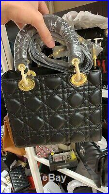 Black Real Leather Shoulder Chains Bags Designer Handbags High Quality Luxury