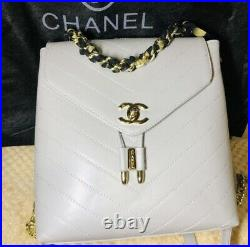 CHANEL Chain Bag rucksack Genuine Products Near MINT Beautiful Used Brand Japan