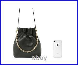 Casual Cute Summy Chain Shoulder Leather Crossbody Bag Real Sheepskin Leather