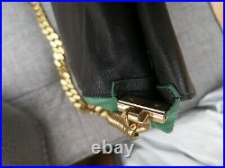 Celine Genuine Green Suede Leather Gourmette Bag With Gold Chain Brand New