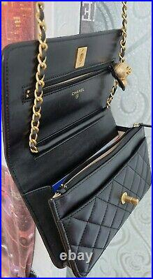Chanel Wallet on Chain WOC handbag Authentic Gold Tone Hardware real photos