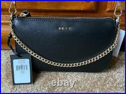 DKNY Black Chain Crossbody Woman's Bag Demi R92E1D18 Genuine With Tags Gift NEW