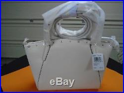 GENUINE'' Coach KELSEY CHAIN SATCHEL WITH FLORAL RIVETS F37773 NWT Chalk/Silver