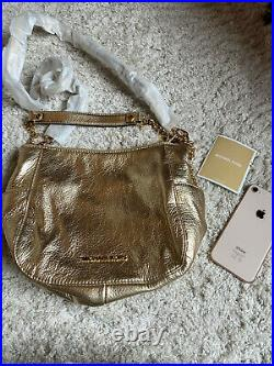 GENUINE Michael Kors gold leather bag, cost £280. NEW! Gold chain strap