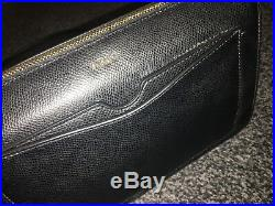 GENUINE REAL NEW DKNY Chain Item Leather Top Zip Cross Body Black Gold