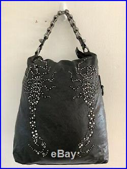 Genuine Authentic Thomas Wylde Scorpion Large Chain Strap Leather Shoulder Bag