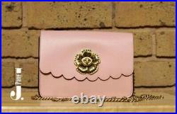 Genuine Coach Small Pink Flower Crossbody Chain Bag Brand New With Tags