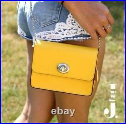 Genuine Coach Small Yellow Chain Crossbody Bag Brand New With Tags
