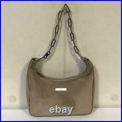 Genuine Gucci Leather Suede Chain Shoulder Bag Body Back