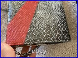 Genuine Gucci Vintage Rare Exotic Leather Python Clutch/Evening Chained Bag