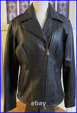 Genuine HARLEY DAVIDSON Womens Leather Jacket EXCELLENT CONDITION