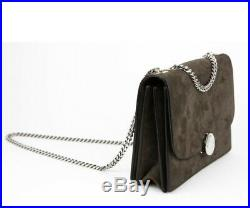 Genuine Marc Jacobs Brown Suede Leather Trouble Double Chain Shoulder Bag