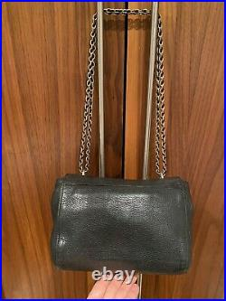 Genuine Mulberry Black Regular Lily Handbag With Gold Chain Strap And Dust Bag