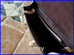 Genuine New Coach Bowery Glitter Crinkle Rose Gold Chain Leather Turnlock Bag