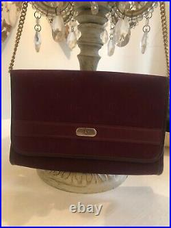 Genuine Vintage Christian Dior Bag/ Clutch with Gold Chain