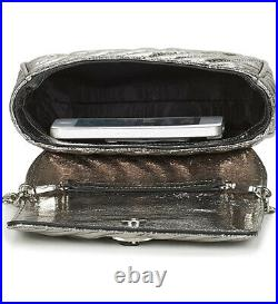 Genuine Vivienne Westwood Silver Coventry Mini Crossbody Bag with chain strap