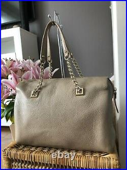 Gorgeous Genuine Kate Spade Pebbled Leather Shoulder Bowling Bag Chain Strap