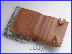 H7431M Authentic Vivienne Westwood Genuine Leather Card Billfold With Chain