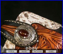 Handmade Fashion real snake skin Leather long mens unique wallet