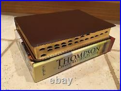 KJV Thompson Chain Reference BIBLE burgundy genuine Leather Indexed