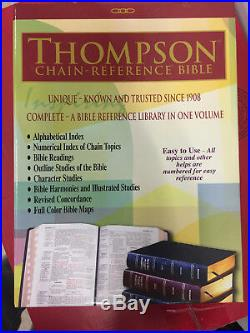 KJV Thompson Chain-Reference Bible Black Genuine Leather Thumb Indexed BRAND NEW