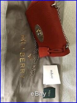 Mulberry Lily Rust Crossbody Bag with silver chain -Small- Genuine Product BNWT
