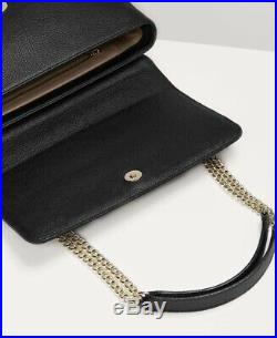 New WT Genuine Vivienne Westwood Balmoral Large Bag With Chain and Flap Black