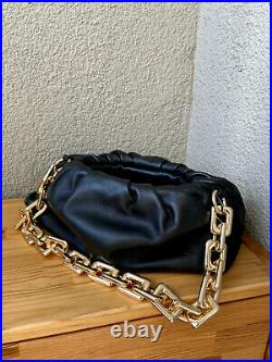 On Stock Ready to be Shipped Bottega Veneta Style Chain Pouch Real Leather Bag