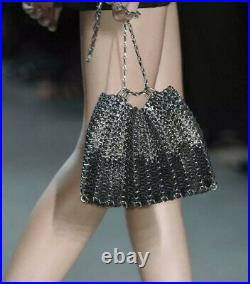 PACO RABANNE Iconic Le 1969 black leather chain bag. New, genuine and amazing
