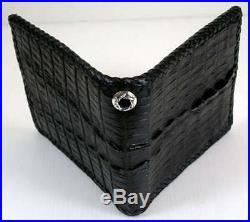 Real Genuine Crocodile Tail Skin Leather Biker Wallet New Alligator For Chain