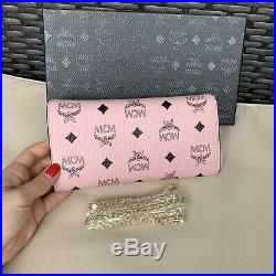 Real Leather Chain Wallet/Clutch