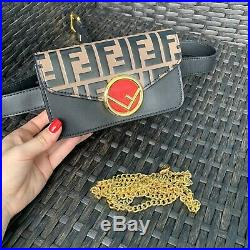 Real Leather Chain Wallet/Waist Bag