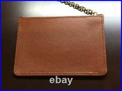 Rolex Coin Case Novelty with Chain Zipper Genuine Leather Brown ROLEX