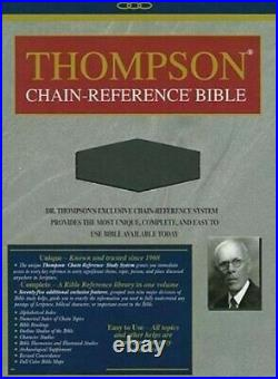 Thompson Chain Reference Bible, NIV, Genuine Leather, RARE, OOP, New Internation