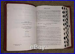 Thompson KJV Chain Reference Holy Bible Genuine Morocco Leather RED 1964