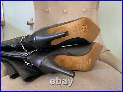 Topshop Real Leather High Heel Over Knee Thigh Boots UK 5 EU 38 US 7.5