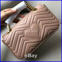 Women Real Leather Original Quality Chain Party Shoulder Messenger Crossbody Bag