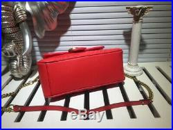 Women Real Leather Red Chain Party Shoulder Crossbody Shoulder Bag 27x19x10cm