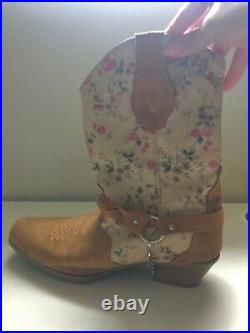 Women's Genuine Leather Western Cowboy Boots Size 7 1/2