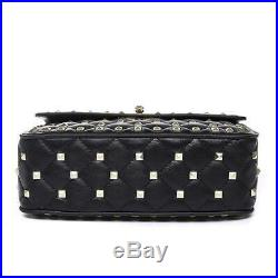 Womens Bag Genuine Leather Studded Spike Purse Quilted Chain Lambskin Shoulder